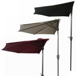 Palm Springs 9ft Aluminium Outdoor Patio Half Umbrella Garde