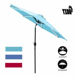 Doit 9Ft Outdoor Market Table Umbrella With 8 Sturdy Ribs,So