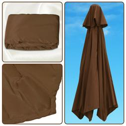 8ft 9ft Patio Umbrella Replacement  6Ribs Canopy Cover Paras