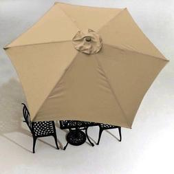 9FT Patio Umbrella Replacement Canopy 6 Rib Outdoor Yard Dec