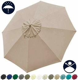 9ft Patio Umbrella Replacement Canopy Cover 8 ribs Market Ta