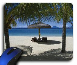 Beach Chairs Umbrella Beach Scene Rectangle Mouse Pad