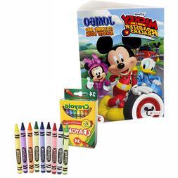 Disney Mickey & Friends Coloring & Activity Book + 24 Crayol