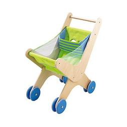 HABA Caddy - Classic Wood & Fabric Shopping Cart with Seatin