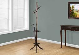 Monarch Specialties Solid Wood Coat Rack with an Umbrella Ho