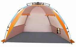 Oileus X-Large 4 Person Beach Tent Sun Shelter - Portable Su