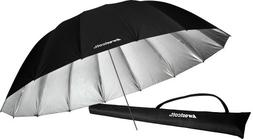 Westcott 4633 7-Feet Silver with Black Cover Parabolic Umbre