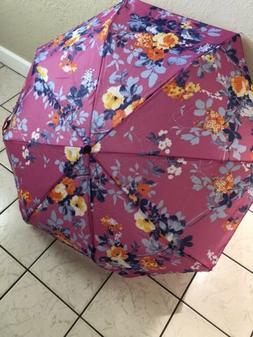 A Folding Umbrella Mini Portable Compact Emergency Floral 42