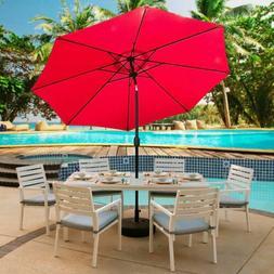 Abble 9 ft. Patio Sun Umbrella Steel Tiltable Parasol Cover