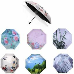 Anti-UV Sun Rain Protection Windproof Multi Pattern Parasols