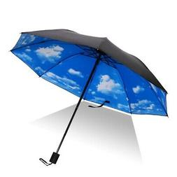 Anti-UV Sun Rain Umbrella Parasol Protection Windproof Flowe