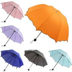 Anti UV Sun Rain Umbrella Women Windproof Travel Compact 3 F