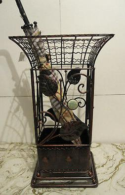 Antique Looking Copper Brown Square Metal Wrought iron Umbre