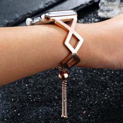 For Apple Watch 38mm 40 42MM 44mm Fashion Metal Bracelet iWa