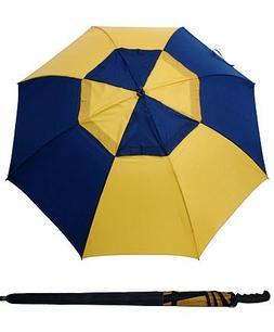 """Bayside21 68"""" Arc Stick Auto Open Golf Umbrella - Blue/Yello"""