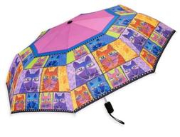 Laurel Burch Artistic Multi-color Compact Umbrella
