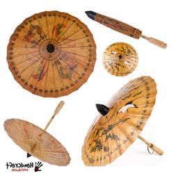 Asia Chinese Parasol Oil Paper Bamboo Umbrella Decor Prop Ph