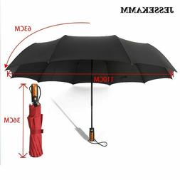 Auto Open & Close Windproof Strong Large Umbrella 10 Ribs Co