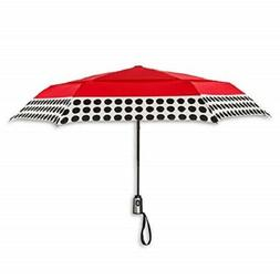 ShedRain Auto Open/Close Air Vent Compact Umbrella - Red Pol
