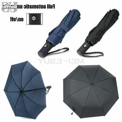 Auto Open Close Folding Travel Compact Umbrella Waterproof W