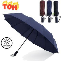 Auto Open/Close Umbrella Anti-UV Sun Rain Protection Windpro
