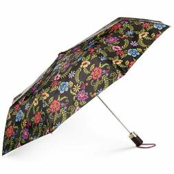 Totes Auto-Open Compact Floral Umbrella with NeverWet