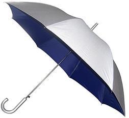 RainStoppers Auto Open European Hook Handle Umbrella, Silver