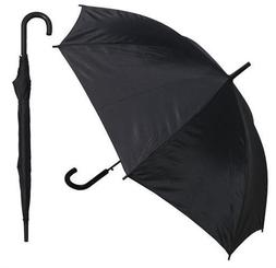 RainStoppers Auto Open European Hook Handle Umbrella Black 4