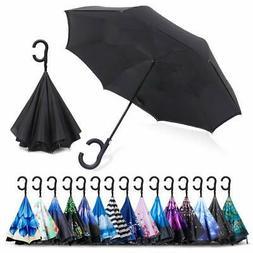ZOMAKE Auto Open Inverted Umbrella Double Layer Reverse Umbr