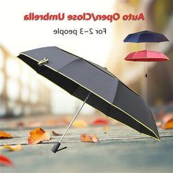 Auto Open Large Folding Rain Umbrella Anti-UV Windproof Over