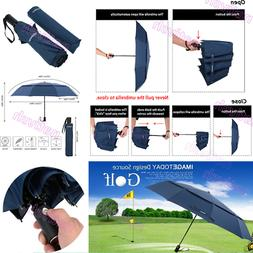 TOMSHOO Auto Windproof Open/Close Umbrella Large Vented Doub