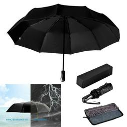 Automatic Black Umbrella Anti-UV Sun/Rain Windproof 3 Foldin