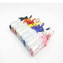 US Portable Transparent Folding Compact Umbrella Windproof T
