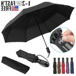 Large Umbrella Automatic Open Close 3 Folding Golf Umbrellas