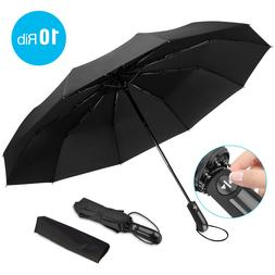 Automatic Compact Umbrella Windproof Auto Umbrella 3 Fold Wa
