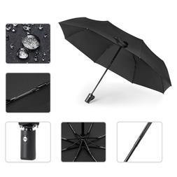 Automatic Foldable  8Ribs Travel Umbrella Open Close Waterpr