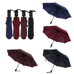 Automatic Open Close Folding Compact Umbrellas Windproof Ant