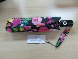 Vera Bradley Automatic Open/Close Umbrella Hilo Meadow Print