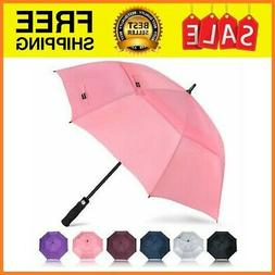 Automatic Open Golf Umbrella 62 Inch Large Rain Oversize Win