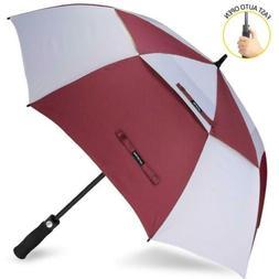 ZOMAKE Automatic Open Golf Umbrella 68 Inch - 68 Inch, Wine