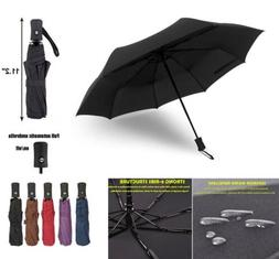 Automatic Travel Umbrella Auto Open Close Compact Folding Wi