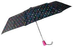 "Totes Automatic Umbrella 42"" Polka Dot Large Auto Open Trave"