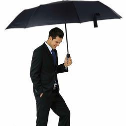 Automatic Umbrella Rain Windproof 10 Ribs Folding Compact Tr