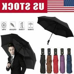 Automatic Umbrella Rain Windproof Auto Open Close 3 Folding