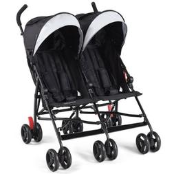 Baby Double Stroller Twin Umbrella Canopy Lightweight Reclin