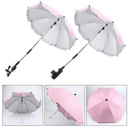 Baby Stroller Wheelchair Pushchair Sun Rain Parasol Umbrella