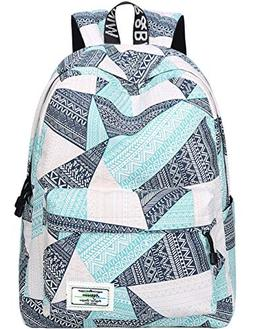 Backpack for Teens, Fashion Geometric Pattern Laptop Backpac