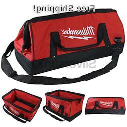 Milwaukee Bag 23x12x12nch Heavy Duty Canvas Tool Bag 6 Pocke