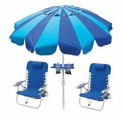 RIO BEACH Beach Chairs Backpack & Beach Umbrella w/ Cup Hold