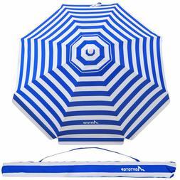 Beach Umbrella 7ft Sand Anchor with Tilt Aluminum Pole UV 10
